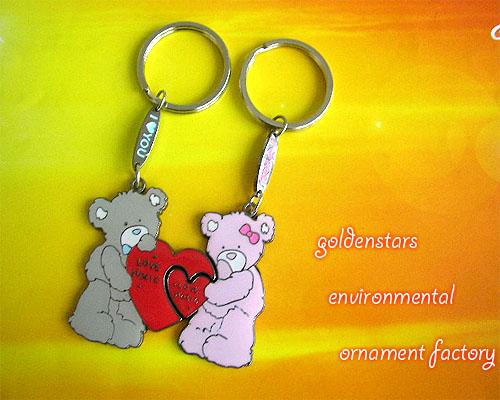 情侣抱抱熊钥匙扣