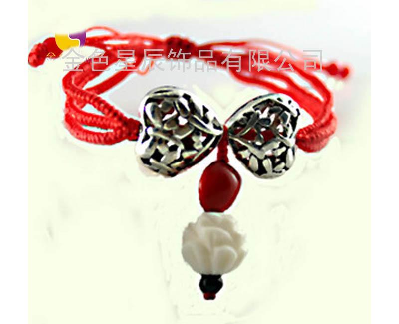 手工编织戒指链